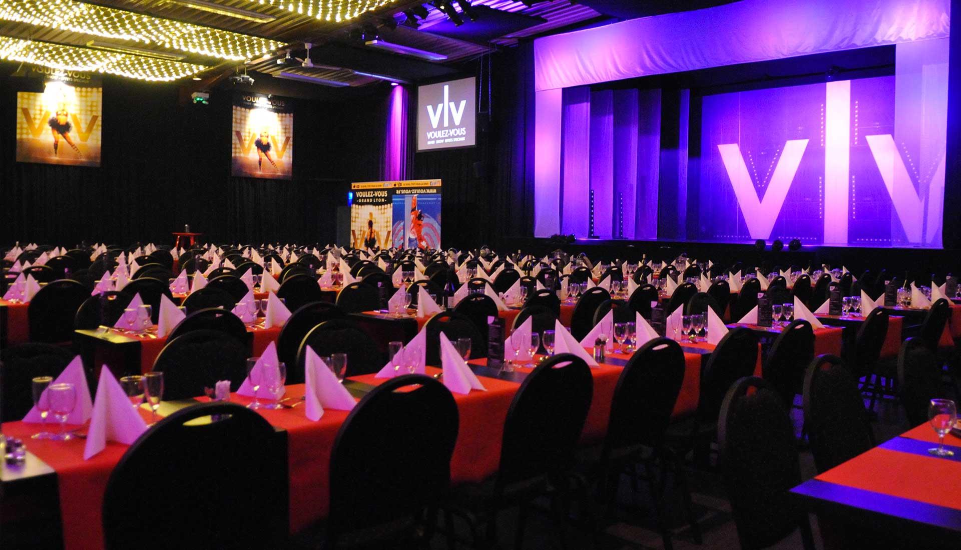 Salle de réception, diner-spectacle, Voulez-Vous Grand Lyon
